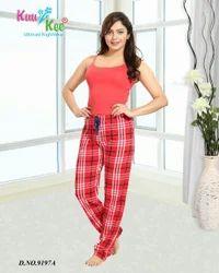 Red Women KuuKee 9197 Ladies Pajama Lowers