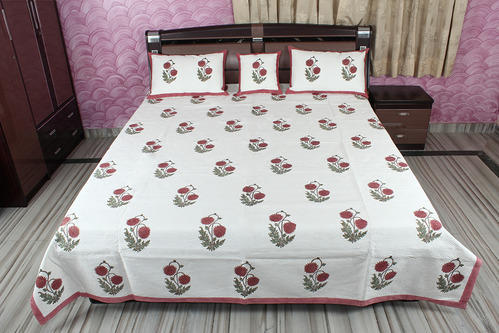 Indian Hand Block Printed Bed Sheet Cotton Bedspread