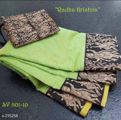 Cotton Digital Print Fancy Sarees, Machine Made