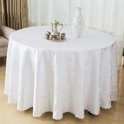 White Table Cloth, Size: Custom