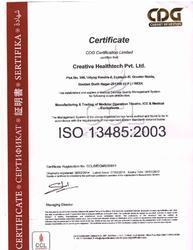 ISO 13485 : 2003 Certificate