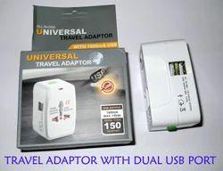 World Plug with USB Charger
