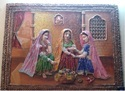 """Seamless Finish Without Frame Rajasthani Mural Work Paintings, For Home Decor, Size: 12"""" X 12"""""""