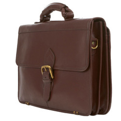 Brown Leather Trendy Office Bag, Capacity: 10L