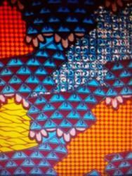 African Wax Printed Cotton Fabric, GSM: 150-200