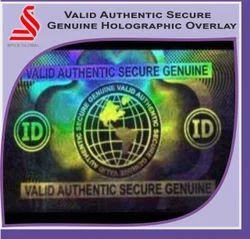 Valid Authentic Secure Genuine Hologram Overlay