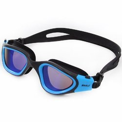 Plastic Blue Mirror Swim Goggle