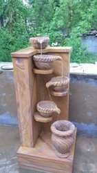 F Marble Brown Decorative Fountain, For Garden