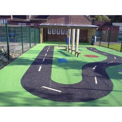 Kids Playing Area Flooring Service, Thickness: 76 Mm