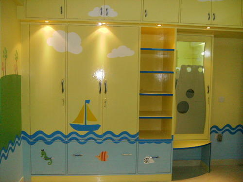 Kids Wooden Wardrobes Kids Wardrobes with Mirror Manufacturer