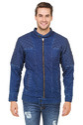 Mens Denim Leather Jacket, Size: M-xl