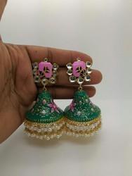 Hand Painted Jumka Earrings