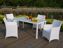 Black And White Wooden Garden Furnitures Set, For Hotel