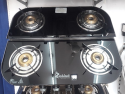 Four Burnar Glass Top Gas Stove