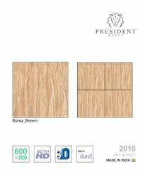 PRESIDENT Porcelain Glazed Vitrified Tiles, Thickness: 8 - 10 mm, Size: Medium