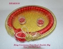 Ring Ceremony Tray Oval Double Big