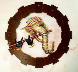 Multicolors Iron 3D Ganesha Face