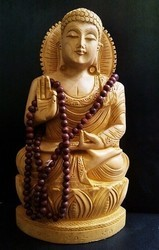 Wooden Buddha Prayers