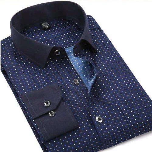 Printed Shirts Design   Mens Dot Printed Shirt At Rs 250 Piece Id 13141250588