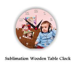 Sublimation Wooden Table Clock - Sublimation Blank Clocks