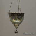Silver Glass T Hanging Light With Metal Fitting