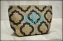 Jute Printed Designer Clutch Case Cosmetic Bag
