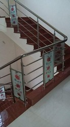 Steel Railing Glass