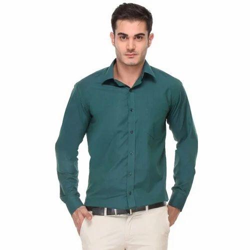 Mens Bottle Green Shirt at Rs 650 /piece(s) | Gents Shirts, Mens ...