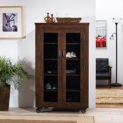 Brown Pooja Industrial 5-Self Industrial Cabinet