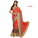 Chiffon Indian Sarees With Blouse Piece