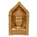 Brass Golden (gold Plated) Buddha Face In Exclusive Handwork By Craftmans From North In