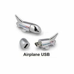 Airplane Shape USB Pen Drive, Memory Size: 8 GB