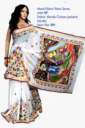 Kerala Hand Painted Cotton Sarees