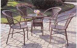 Ivory Style Wicker Outdoor Coffee Set