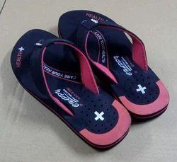 Black Red Ladies Foot Wear