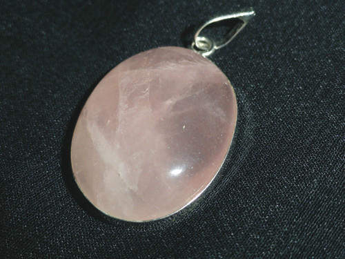 pink rose platim jewelry quartz pendant