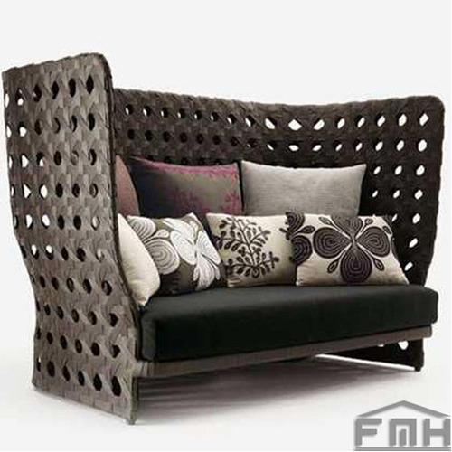 Outdoor Wicker Couch-Broad Street