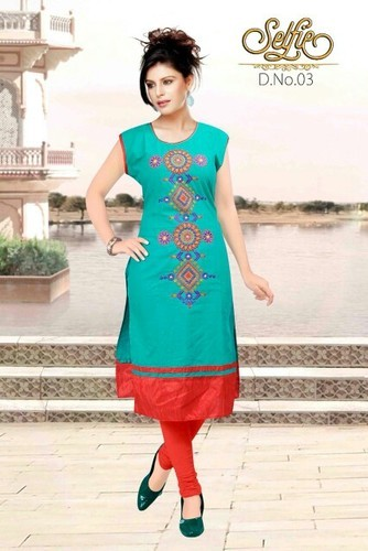 Large Ladies Cotton Kurtis