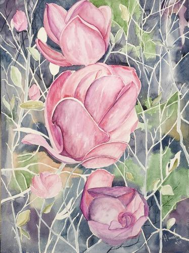 Magnolia Flowers Paintings At Rs 750000 Painting फल क