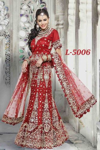 fc12c2c043 Stone Work Heavy Red Lehenga at Rs 24500 /piece(s) | Bridal Lahenga ...