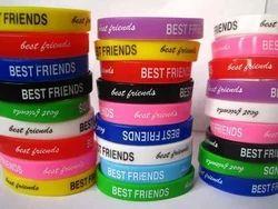 8inch Printed Silicone Wristband