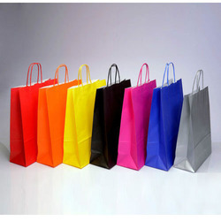 Brown Colored Paper Bag, For Shopping, Capacity: 1kg