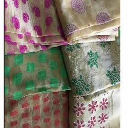 Glitter Tissue Jacquard Fabric