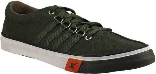 Sparx Olive Sporty Canvas Shoes at Rs