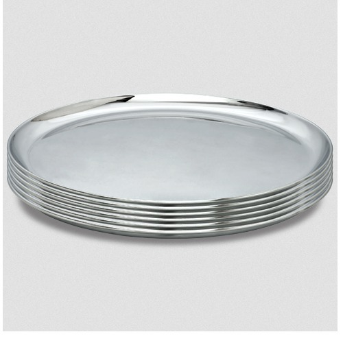 stainless steel round plate at rs 50 piece ss dinner plate stainless steel food plate. Black Bedroom Furniture Sets. Home Design Ideas