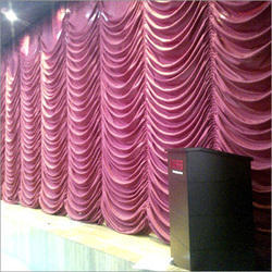 auditorium vertical motorized stage curtains