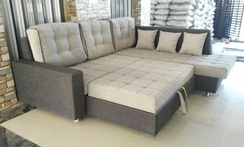 Wooden L Shape Sofa Cum Bed, Warranty: 2 Years
