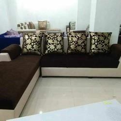 Multicolor Wood L Shape Sofa Set Rs 35000 5 Seater Set Wooden Art
