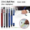 2 in 1 Ball Pen (Pen   Highlighter) 1018B