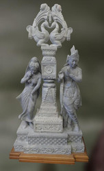 Stone Sculpture Of Radha And Krishna